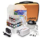 Airbrush Cake Decorating Kit - Watson and Webb Little Airbrush Including 13 Colors, Stencil, 1 x Airbrush Cleaning Solution and Pot, Cleaning Brushes and Case (Color: Selection of 13 colors, Tamaño: 13x11x5)