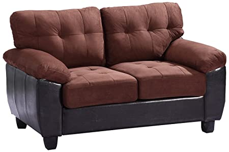 Glory Furniture G906A-L Living Room Love Seat, Chocolate
