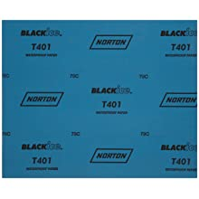 Norton T401 Black Ice Abrasive Sheet, Paper Backing, Silicon Carbide, Waterproof