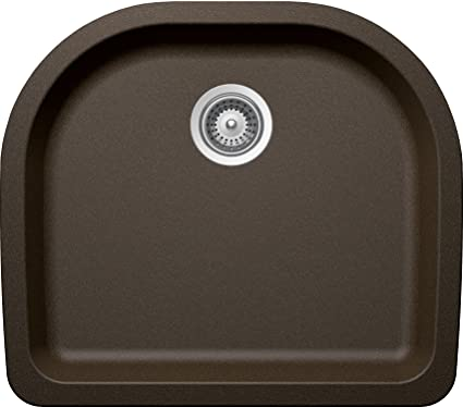 SCHOCK VALN100YU087 VALLEY Series CRISTADUR Undermount Single Bowl Kitchen Sink, Bronze