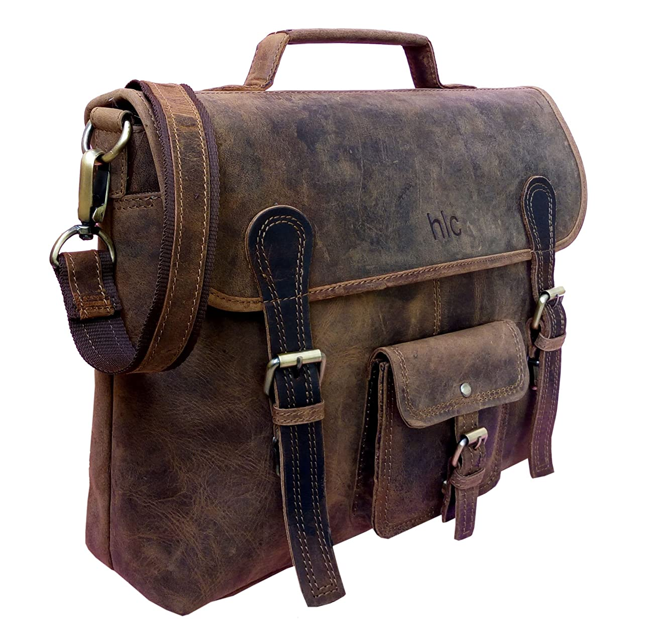 Handolederco. Vintage Leather Laptop Bag 15