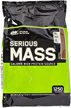 Optimum Nutrition Serious Mass Gainer Chocolate, 1er Pack (1 x 5,45 kg)