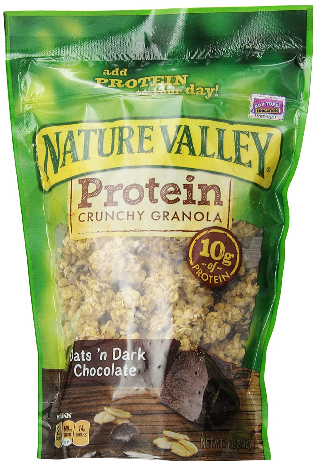 General Mills Cereals Nature Valley High Protein Granola, Oats and Dark Chocolate, 11 Ounce