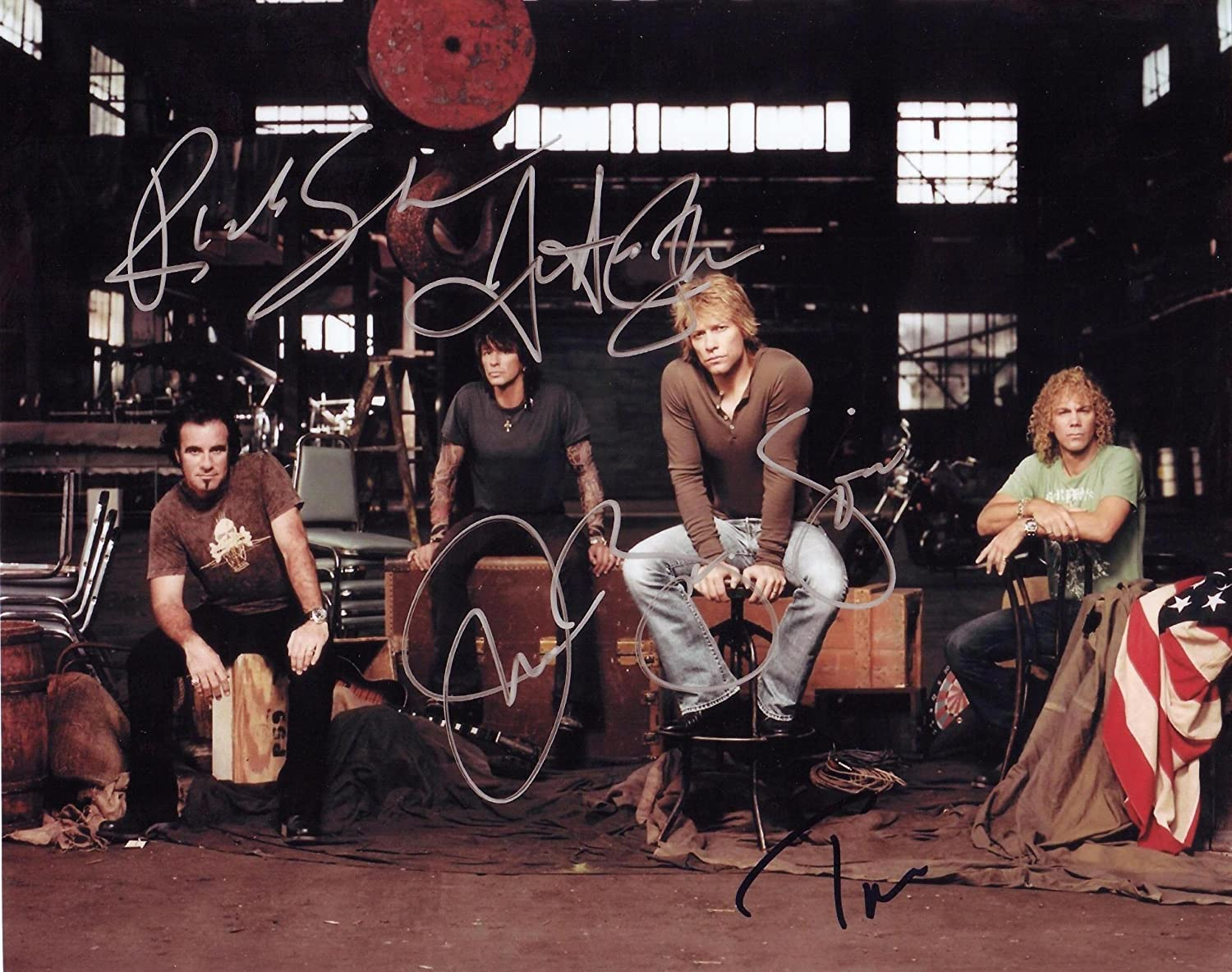 все цены на Bon Jovi Autographed Signed 8 X 10 RP Photo - Mint Condition онлайн
