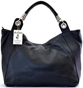 SAC DESTOCK - Sac à Main CUIR Grainé - Réf BOSTON / Nouvelle Collection / Promotion / Handbag Leather (NOIR)   avis de plus amples informations