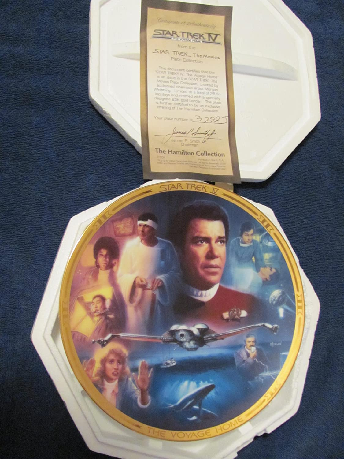 Star Trek IV The Voyage Home Collector's Plate: The Hamilton Collection 1994 Presents Star Trek Iv: The Movies Plate Collection the tyger voyage