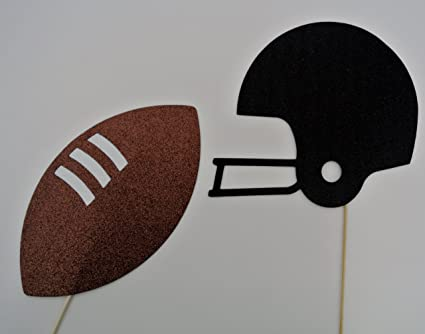 Football Party Photo Props 2 pc Photo Booth Party Props