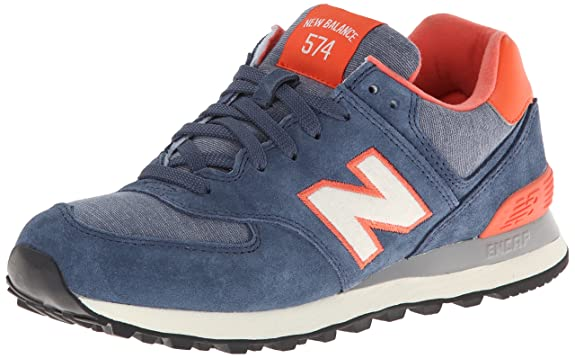 New Balance 574 Bleu Et Orange
