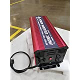 Power Inverter 2000W with charger and ups, Auto Inverter DC 24 volt to 110v, Pure Sine Wave Inverter 2000W Peak 4000w 2 AC Outlets, 1 USB Charging Port. Charger current 15 Ampere
