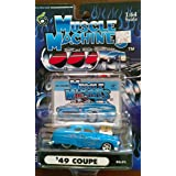 Muscle Machines 49 Coupe blue with silver flames 02-71