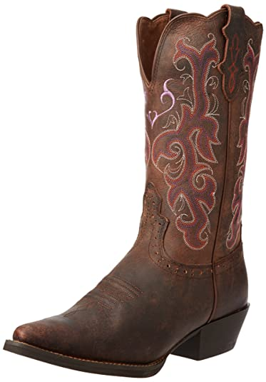 Ladies Elegant Justin Boots WoStampede Western Boot Outlet Multicolor Schemes