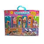 T.S. Shure Fashion A Belles Minis Wooden Magnetic Dress Up Dolls