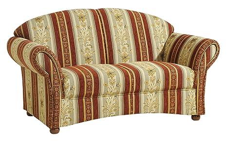 Max Winzer 6110-2100-2046823 2 Sitzer Charlotte im Landhausstil, Vollpolstersofa, Chatosenseitenteil, Chenillegewebe rot