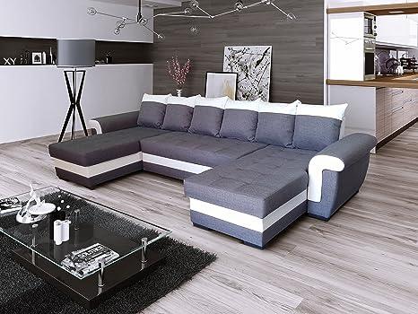 Ecksofa LATTE U mit Schlaffunktion! Eckcouch Sofagarnitur Modern Couch