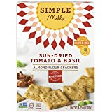 Simple Mills Almond Flour Crackers, Sundried Tomato/Basil, 4.25 Ounce