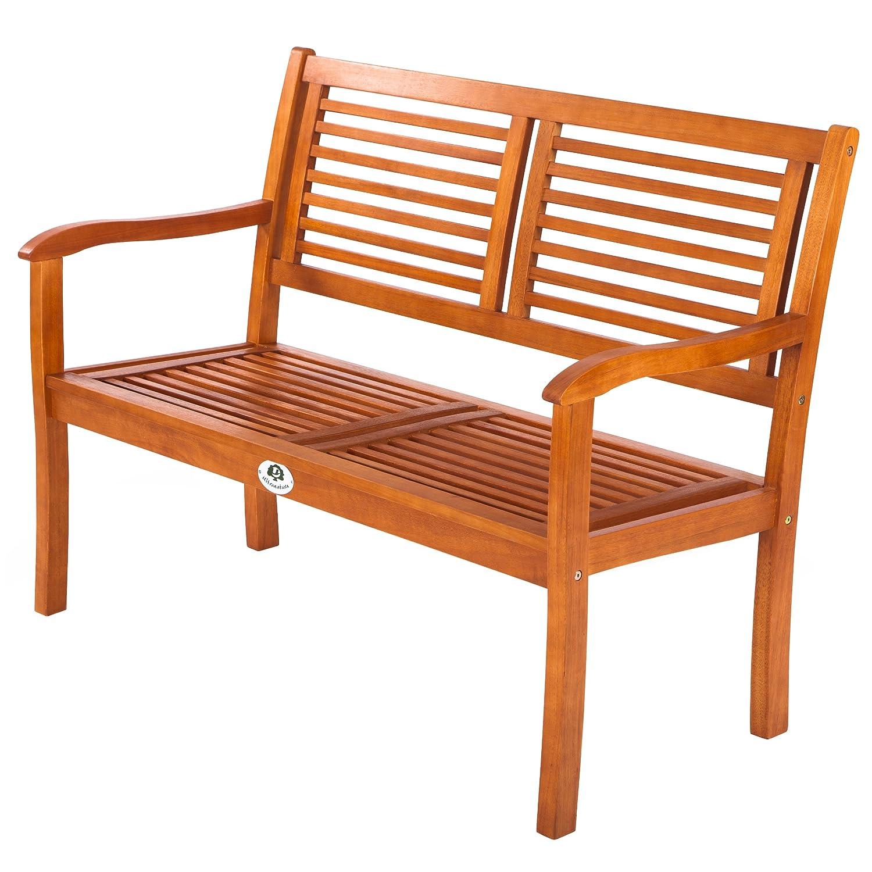 Ultranatura Gartenbank 2-Sitzer, Canberra Serie – Edles & Hochwertiges Eukalyptusholz  FSC zertifiziert – 120 cm x 56 cm x 91 cm günstig online kaufen