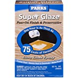 Rust-Oleum Parks Super Glaze, 241352 Ultra Glossy Epoxy Finish and Preservative Kit, Clear 32 Fl Oz (Color: Clear Gloss, Tamaño: 1 Pack)