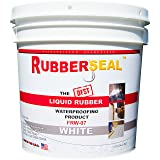 Rubberseal Liquid Rubber Waterproofing and Protective Coating - Roll On White (1 Gallon, White) (Color: White, Tamaño: 1 Gallon)