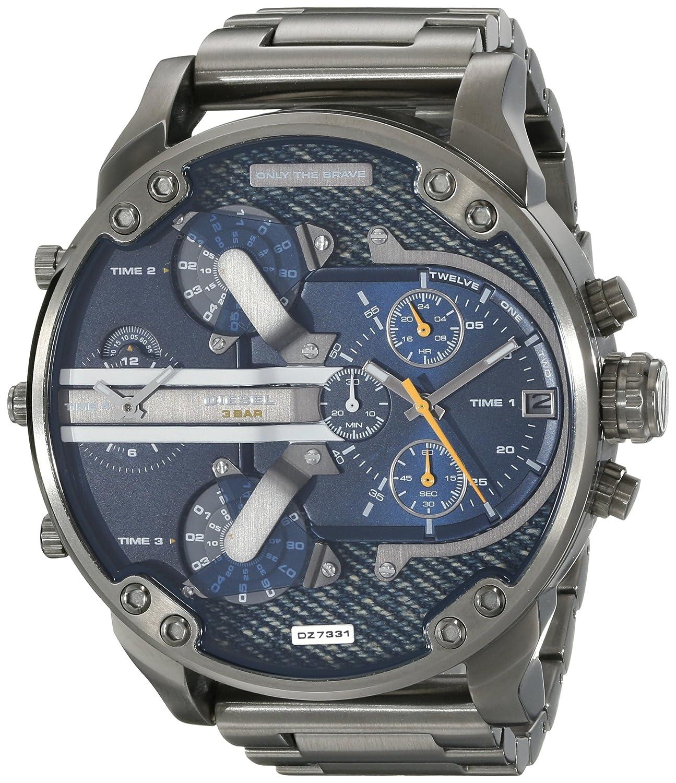 f06119515ccf Diesel Men s DZ7331  Mr. Daddy 2.0  4 Time Zones Black Stainless Steel Watch
