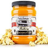 Dutchman's Popcorn Coconut Oil Butter Flavored Oil, Colored with Natural Beta Carotene, The Secret to Making Awesome Popcorn at Home, 30oz Jar - Top Rated, Vegan, Healthy, Zero Trans Fat