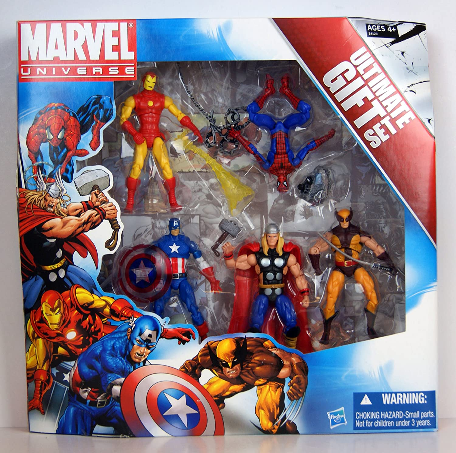 Marvel Universe – 3 3/4 Inch Action Figure 5-Pack – Avengers Ultimate Gift Set – 5 Figuren : SpiderMan, Wolverine, Iron Man, Thor, Captain America -Hasbro bestellen