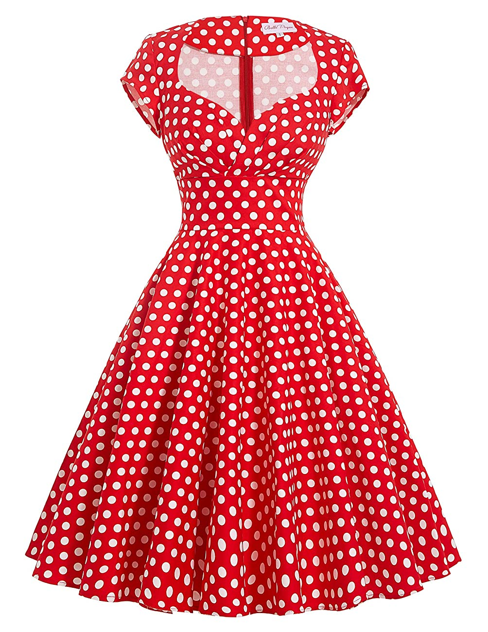 Belle Poque Women's 50's Cap Shoulder Knee-Length Vintage Church Dresses Size S-XL 0
