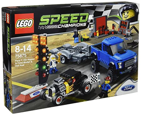 Lego - 75875 - Speed Champions - Jeu De Construction - Ford F-150 Raptor Et Ford Modèle A Hot Rod