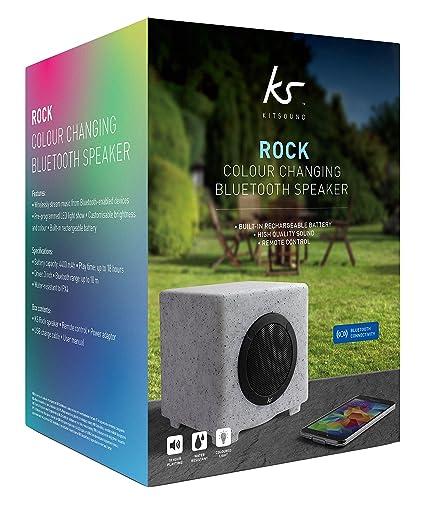 KitSound KSRGLOW Haut-parleur pour Smartphone/Tablette/Lecteur MP3 Blanc