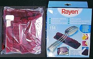 Rayen 6314 - Organizador de cubiertos, color rojo   Comentarios y más información