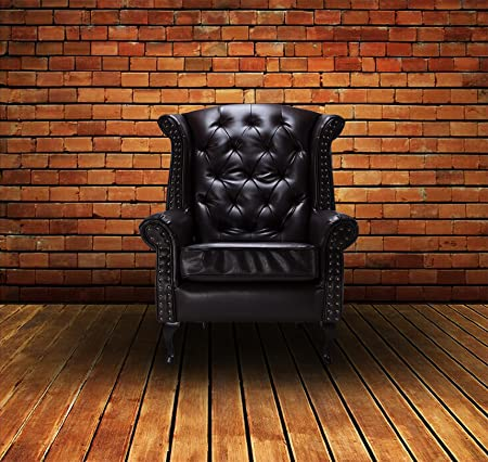 Lovesofas Winchester Bonded Leather Wingback Chair - Armchair Chesterfield - Brown