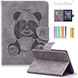 Case for Kindle E-Reader (8th Generation 2016), LittleMax(TM) PU Leather Panda Embossed Wallet Case Magnetic Closure Cover for Amazon Kindle 6