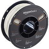 AmazonBasics PLA 3D Printer Filament, 1.75mm, Pearl White, 1 kg Spool (Color: Pearl White, Tamaño: 1.75mm)