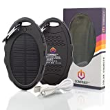 Compakit Solar Phone Charger by High Capacity 8000 mAh Dual USB Solar Power Bank | Portable External Battery Charger | Universal Compatibility Cell Phone Battery Pack | Perfect Gift for Men & Women