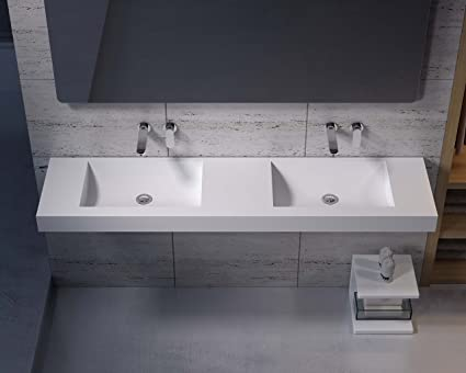 ADM Matte White Stone Resin Sink DW-218