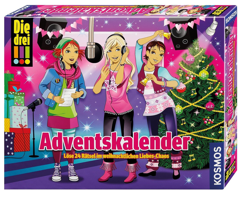Kosmos 631895 – Die drei !!! Adventskalender 2015 – Löse 24 Rätsel im weihnachtlichen Liebes-Chaos als Geschenk