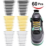 60 no Tie Shoelaces for Kids and Adults. 3 Metallic Colors Gold, Silver, Black.