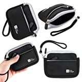 DURAGADGET Huawei Smartwatch Case - Premium Quality Black Neoprene Water-Resistant Carry Case for New Huawei Watch/Talkband B2 (Color: Black)