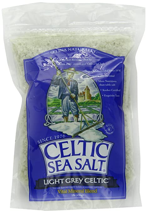 Celtic Sea Salt, Light Grey, 16 Ounce