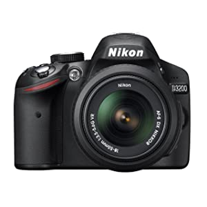 Nikon D3200 24.2 MP CMOS Digital SLR with 18-55mm f/3.5-5.6 AF-S DX VR NIKKOR Zoom Lens (Black)