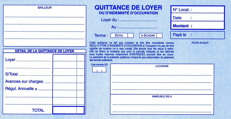 Modele quittance loyer vierge gratuit document online for Facture garage vierge