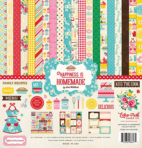 Echo Park Paper Company Happiness is Homemade Collection Kit (Tamaño: 1-Pack)