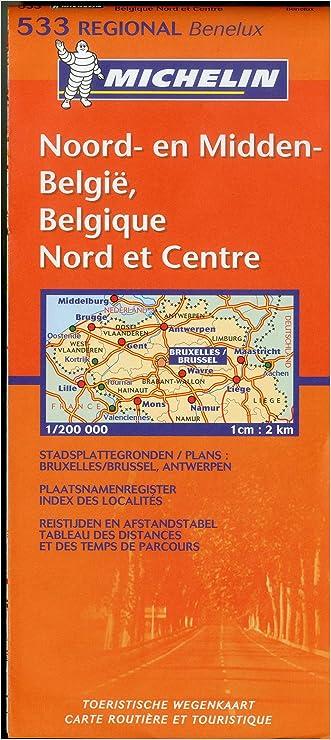 Belgium: North & Central 533 Michelin (Maps/Regional (Michelin))