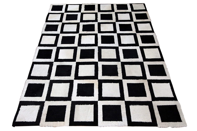 SIT-Möbel 1017-11 Teppich This und That, 200 x 300 cm, gefärbtes Kuhfell, dessin Bloomington, schwarz / weiß