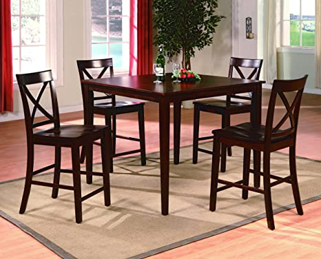 Theodore 5Pc Counter Height Table Set By Crown Mark Furniture