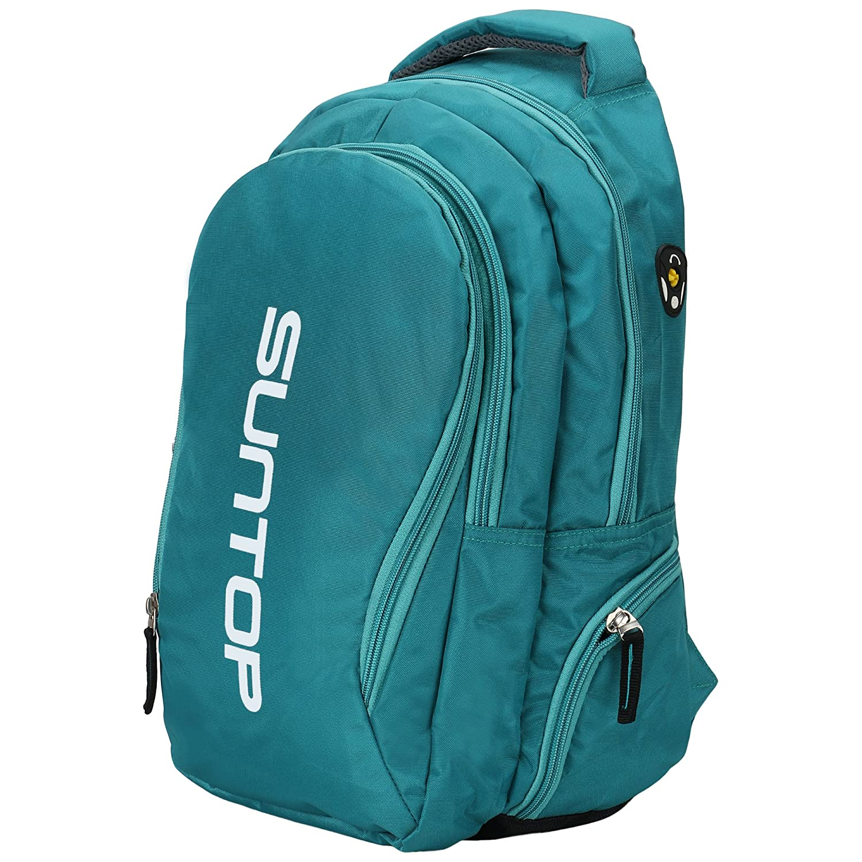 School bags online cash on delivery - Suntop Neo 3 Reflector Waterproof Fabric Medium Laptop Backpack Green