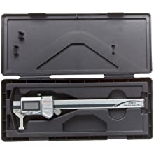 "Mitutoyo ABSOLUTE 573-745 Digital Caliper, Stainless Steel, Battery Powered, Inch/Metric, Nib Style Jaw, 0-6"" Range, +/-0.002"" Accuracy, 0.0005"" Resolution, Meets IP67 Specifications"
