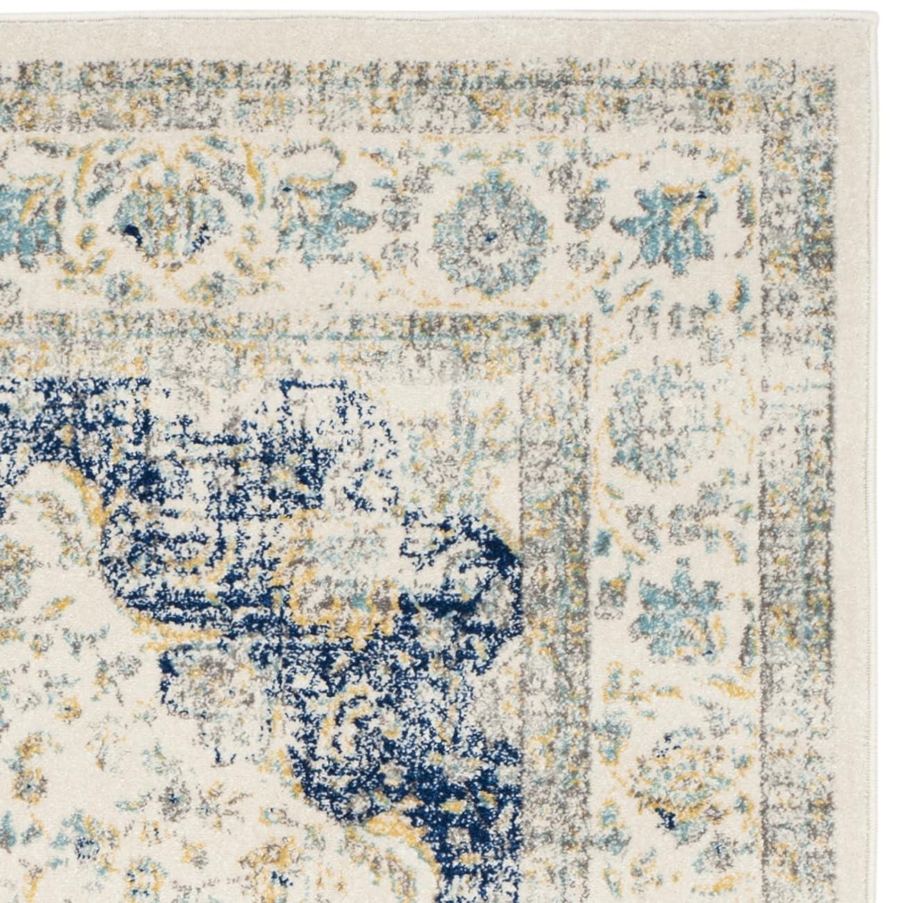 Safavieh Evoke Collection EVK220C Oriental Vintage Ivory and Blue Area Rug (9' x 12') 3