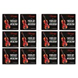 Vizcaya 2 Full Sets Violin String (G-D-A-E , G-D-A-E) for 4/4 - 3/4 Size Beginner,Student Violin Replacement ,Extra 4 string(E1,A2,E1,A2)