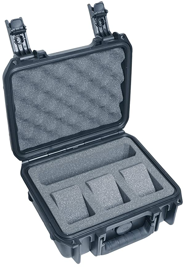 Case Club Waterproof 3 Watch & Accessory Pocket Travel Case (Color: 3 Watch & Accessory, Tamaño: 3 Watch & Accessory)