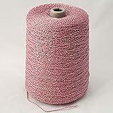 Needloft Craft Cord Pink Iridescent #50 - Bulk Spool 4,000+ Feet (Color: Pink Iridescent #89 - Bulk Spool)